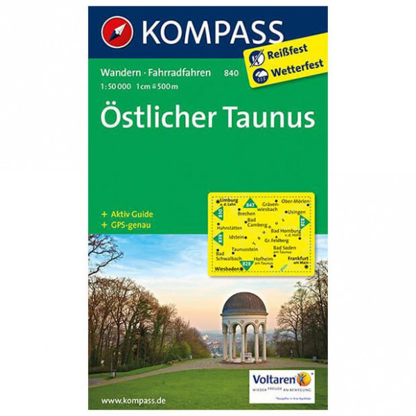 Kompass - Östlicher Taunus - Carte de randonnée