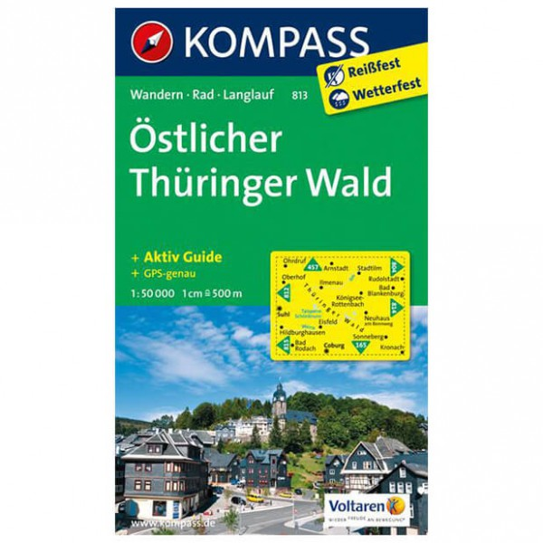 Kompass - Östlicher Thüringer Wald - Hiking Maps
