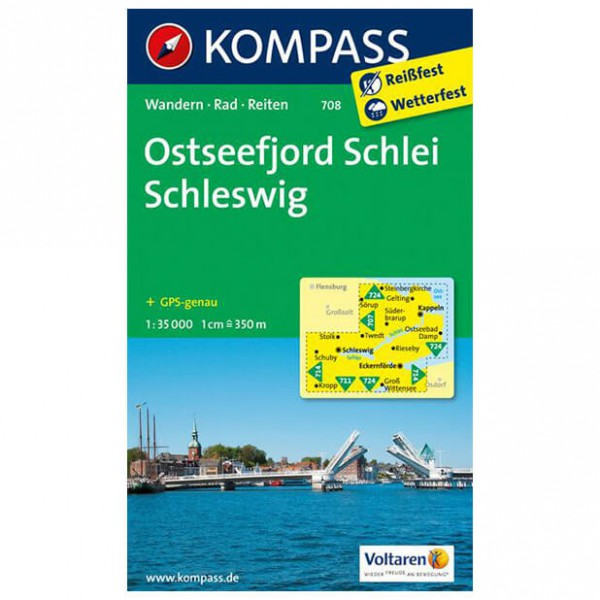 Kompass - Ostseefjord Schlei - Hiking Maps