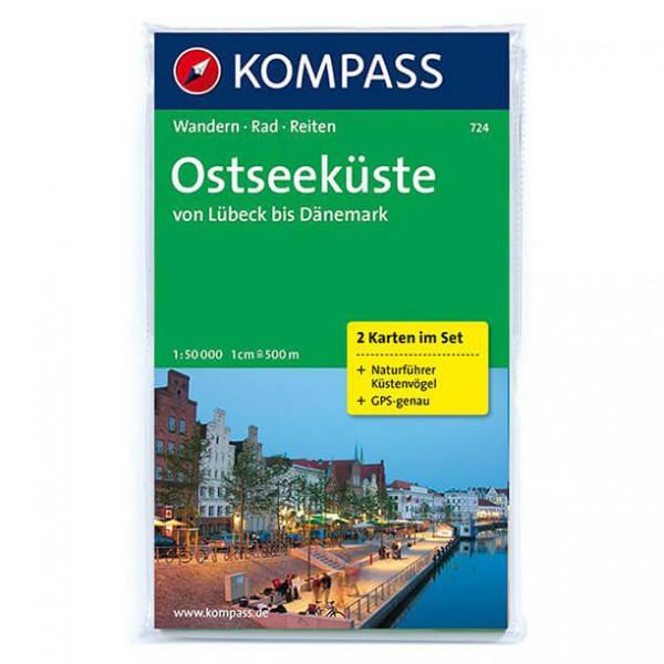 Kompass - Ostseeküste von Lübeck bis Dänemark - Wanderkarte