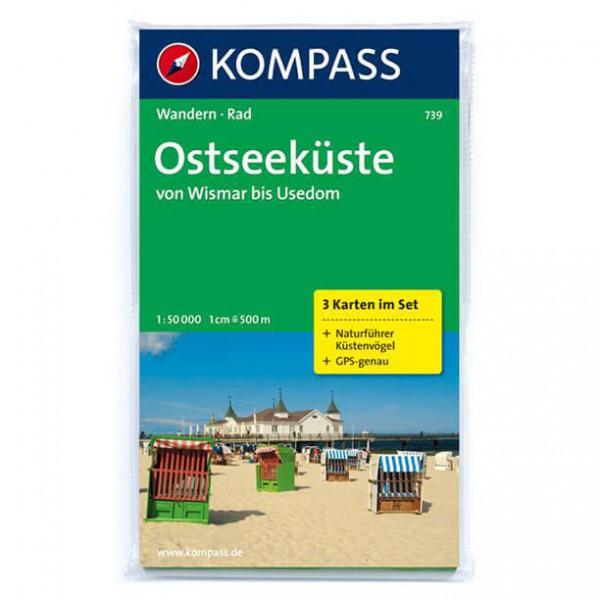 Kompass - Ostseeküste von Wismar bis Usedom - Vandringskartor