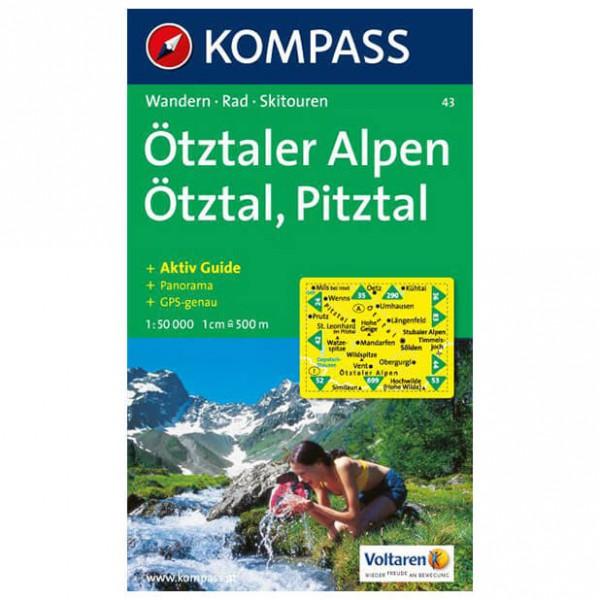 Kompass - Ötztaler Alpen - Vaelluskartat