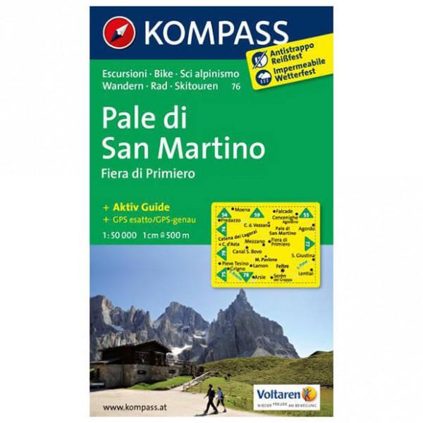 Kompass - Pale di San Martino - Fiera di Primiero - Hiking map