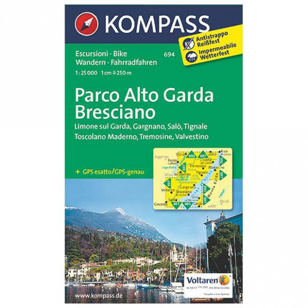 Kompass - Parco Alto Garda - Hiking map