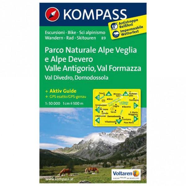 Kompass - Parco Naturale Alpe Veglia e Alpe Devero - Wanderkarte