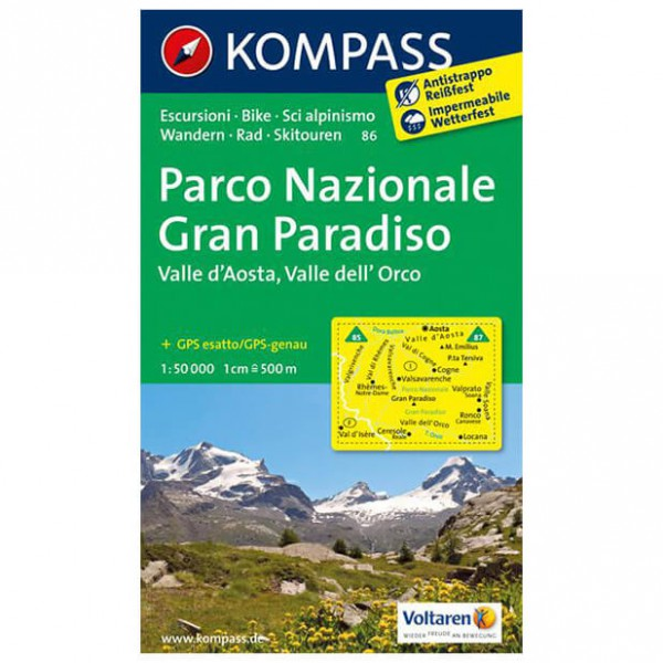 Kompass - Parco Nazionale Gran Paradiso - Wanderkarte