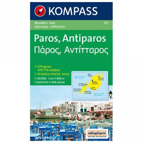 Kompass - Paros - Wanderkarte