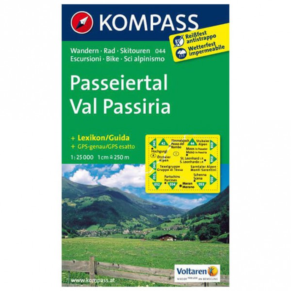 Kompass - Passeiertal - Cartes de randonnée