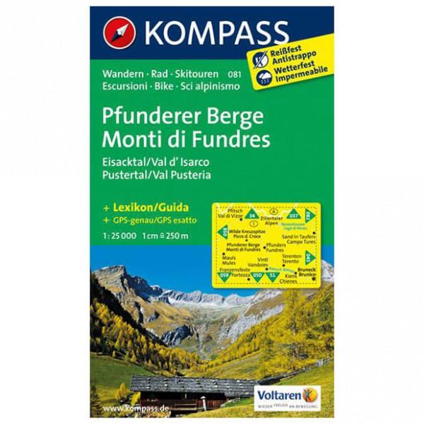 Kompass - Pfunderer Berge/Monti di Fundres - Wanderkarte