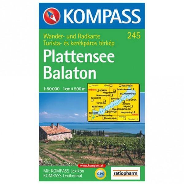 Kompass - Plattensee/Balaton - Wanderkarte