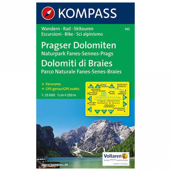 Kompass - Pragser Dolomiten - Wandelkaarten