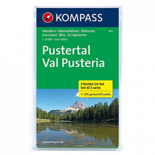 Kompass - Pustertal - Mapa de senderos