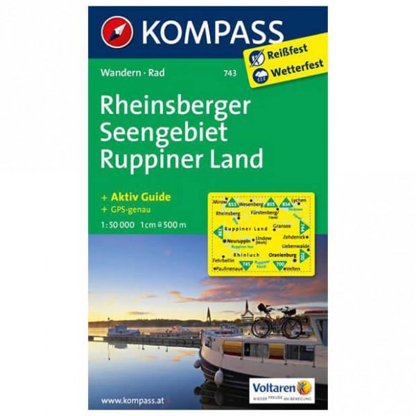 Kompass - Rheinsberger Seengebiet - Wanderkarte