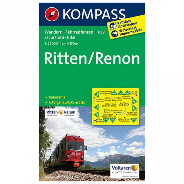 Kompass - Ritten /Renon - Wandelkaarten