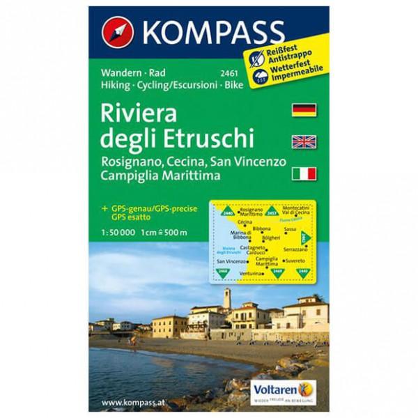 Kompass - Riviera Degli Etruschi - Hiking Maps