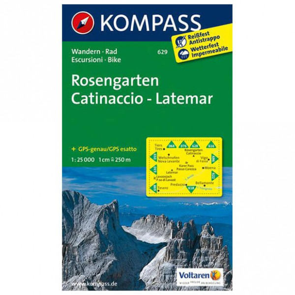 Kompass - Rosengarten /Catinaccio - Vaelluskartat