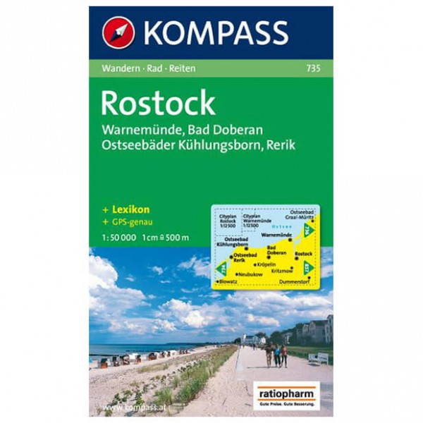 Kompass - Rostock /Warnemünde /Bad Doberan - Wandelkaarten