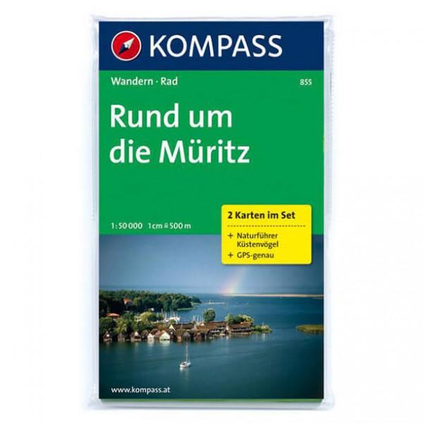Kompass - Rund um die Müritz - Vandrekort