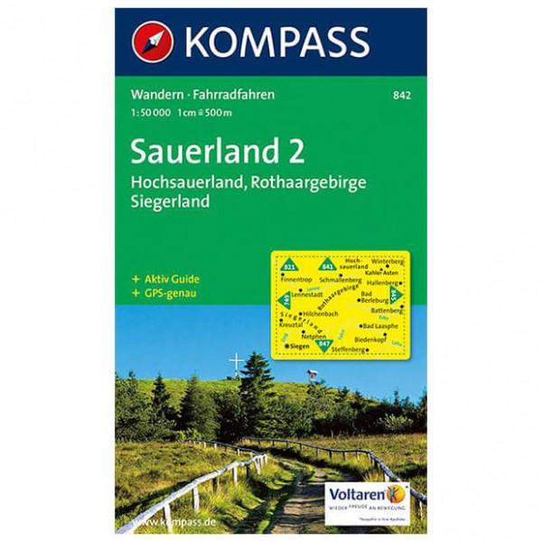 Kompass - Sauerland 2 - Wandelkaarten
