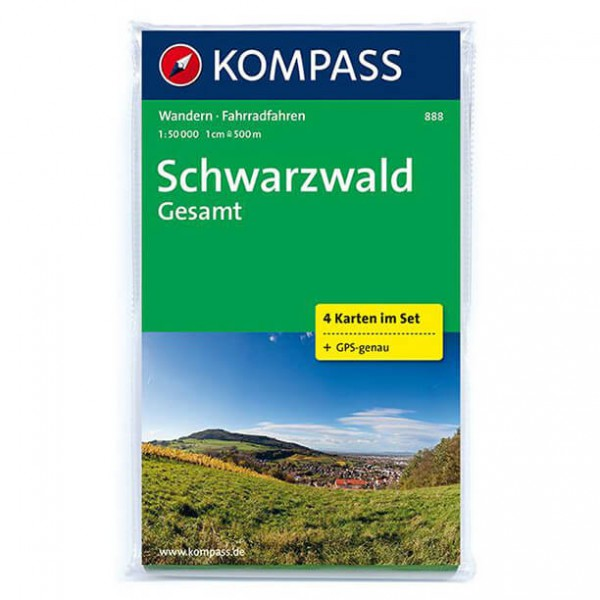 Kompass - Schwarzwald Gesamt - Cartes de randonnée