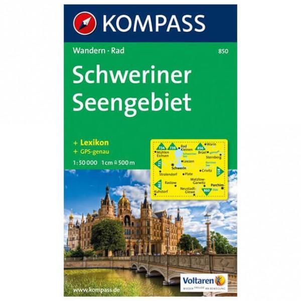 Kompass - Schweriner Seengebiet - Wandelkaarten