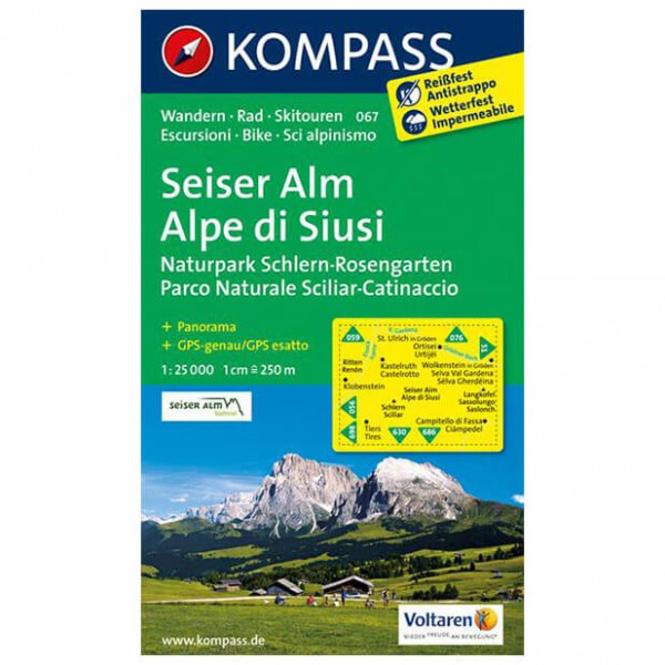 Kompass - Seiser Alm /Alpe di Siusi - Hiking Maps