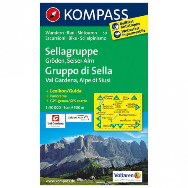 Kompass - Sellagruppe - Vandringskartor