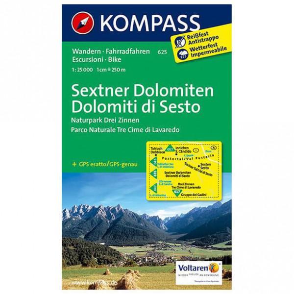 Kompass - Sextner Dolomiten - Vandrekort