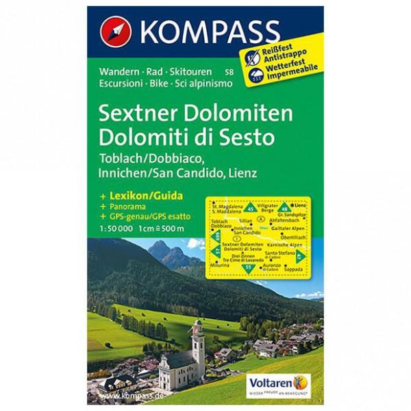 Kompass - Sextner Dolomiten/Dolomit di Sesto - Wanderkarte