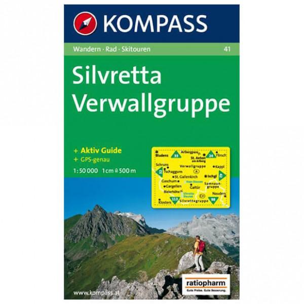 Kompass - Silvretta - Wanderkarte