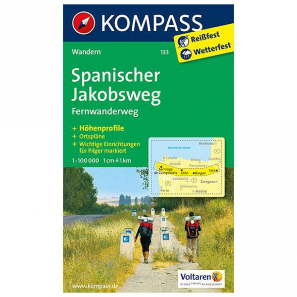 Kompass - Spanischer Jakobsweg - Hiking Maps