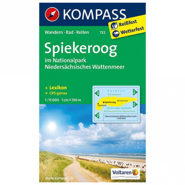 Kompass - Spiekeroog im NIedersächsischen Wattenmeer - Hiking map