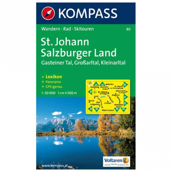 Kompass - St. Johann - Wanderkarte