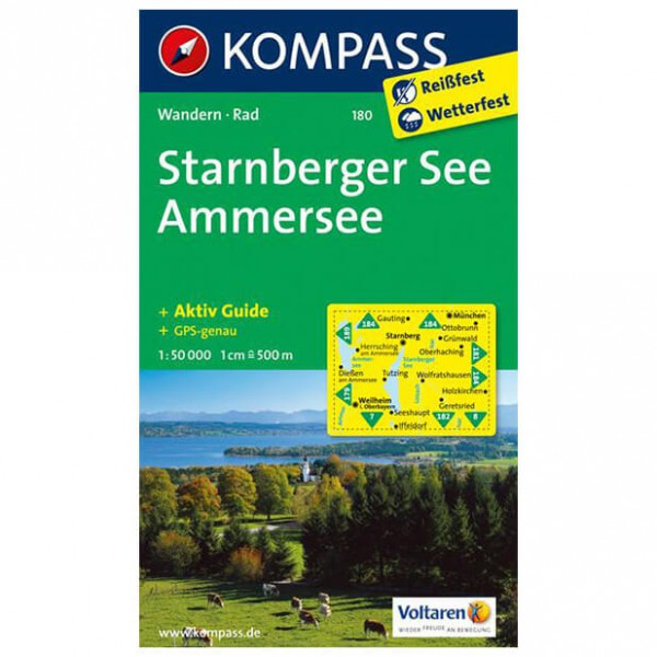Kompass - Starnberger See - Ammersee - Vandrekort
