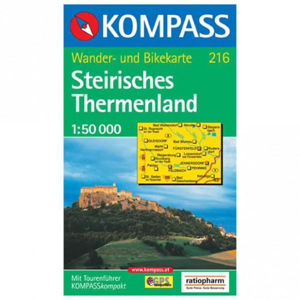 Kompass - Steirisches Thermenland - Wanderkarte