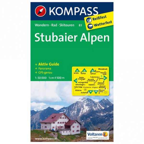Kompass - Stubaier Alpen - Cartes de randonnée
