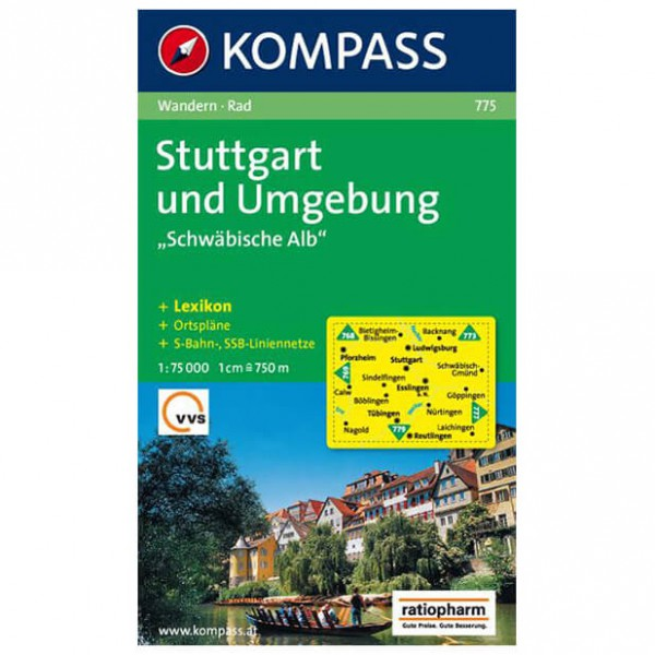 Kompass - Stuttgart und Umgebung ''''Schwäbische Alb'''' - Wandelkaarten