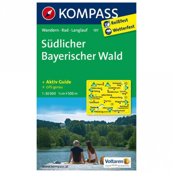 Kompass - Südlicher Bayerischer Wald - Vaelluskartat