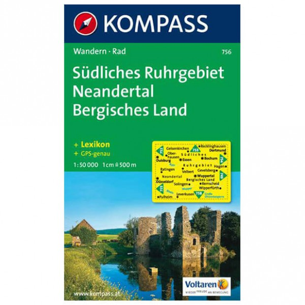 Kompass - Südliches Ruhrgebiet - Vandringskartor