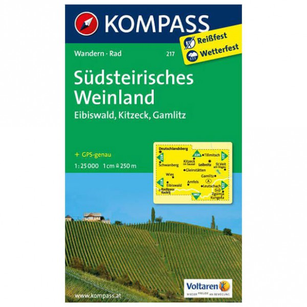 Kompass - Südsteirisches Weinland - Mapa de senderos