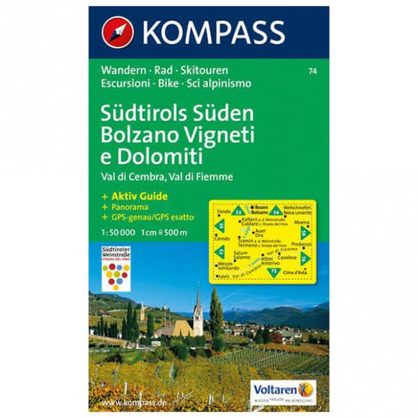 Kompass - Südtirols Süden - Vaelluskartat