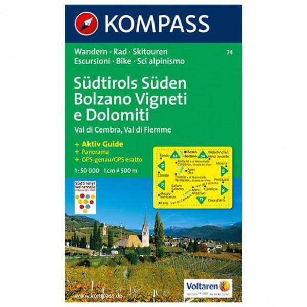 Kompass - Südtirols Süden - Wanderkarte