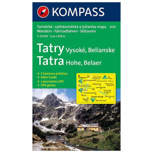 Kompass - Tatry Vysoke - Cartes de randonnée