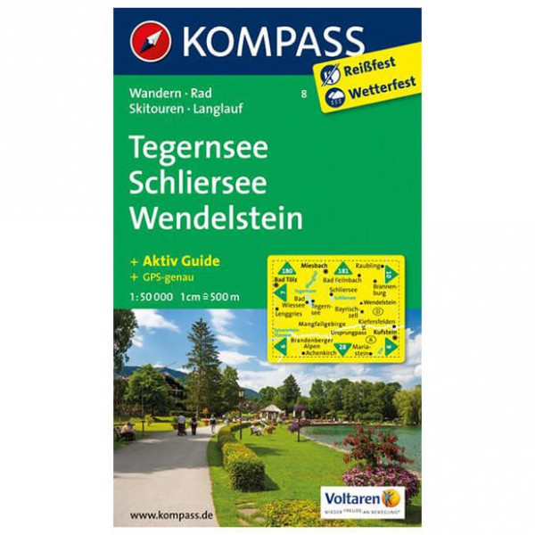 Kompass - Tegernsee - Wanderkarte