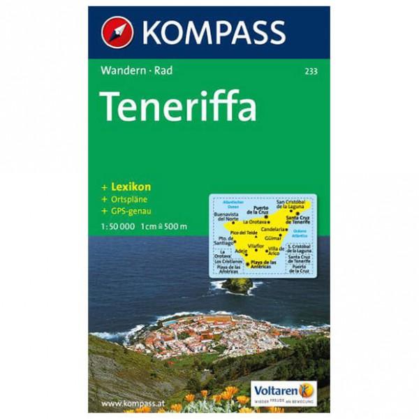 Kompass - Teneriffa - Cartes de randonnée