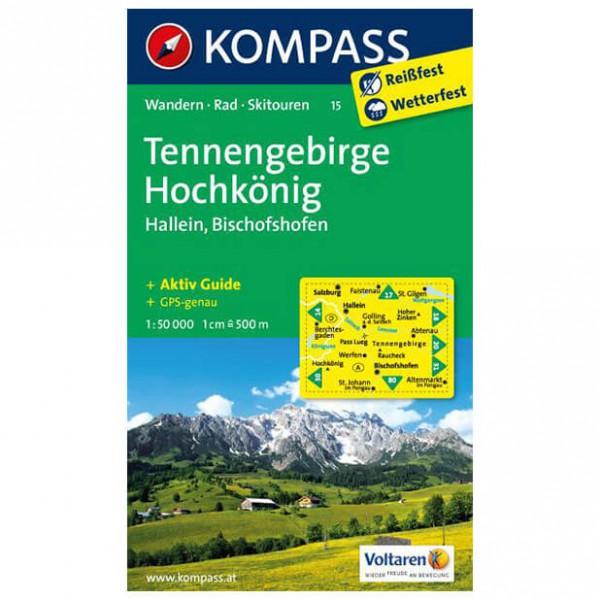 Kompass - Tennengebirge - Mapa de senderos