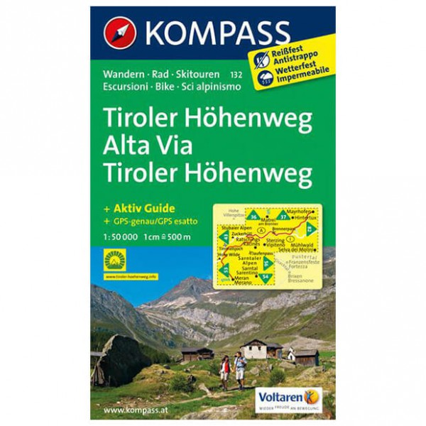 Kompass - Tiroler Höhenweg - Hiking Maps