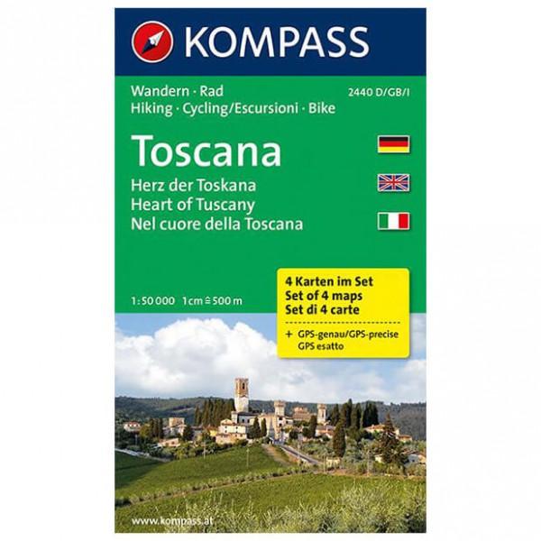 Kompass - Toscana - Cartes de randonnée