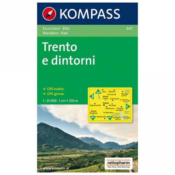 Kompass - Trento e dintorni - Vaelluskartat