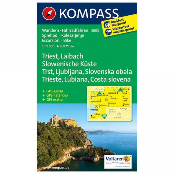 Kompass - Triest - Cartes de randonnée